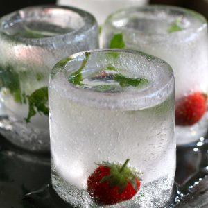 borrelglaasjes van ijs