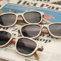De houten zonnebril die wel in de krant mag