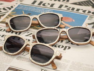 houten zonnebril