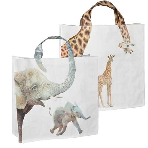 shopper tas dierenprint