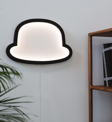 houten lamp retro design