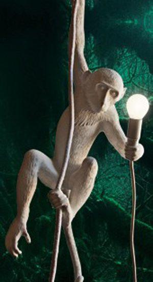 hangende plafond lamp aap