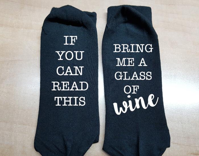 sokken met tekst
