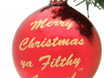kerstbal met tekst